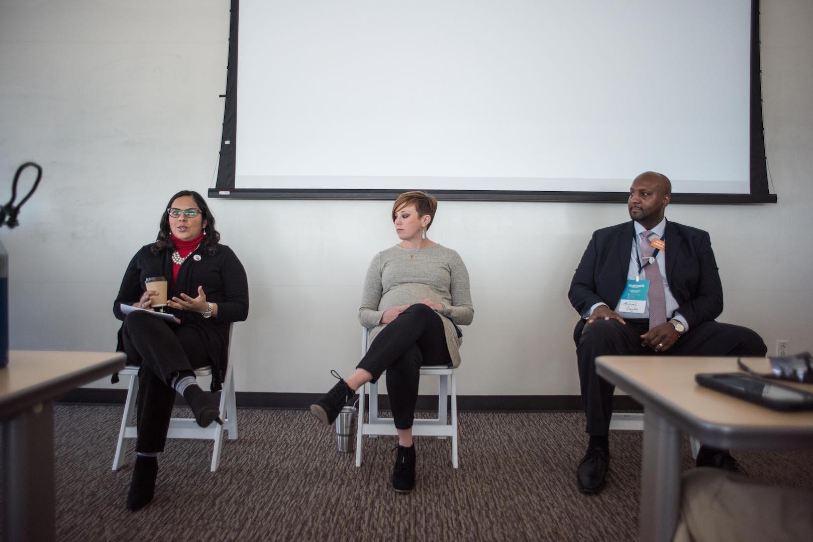 Nancy Bernardino speaks on panel at TeachDFW Summit.
