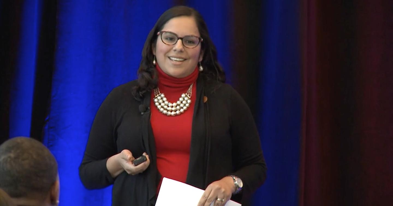 Nancy Bernardino speaks at TeachDFW Summit.