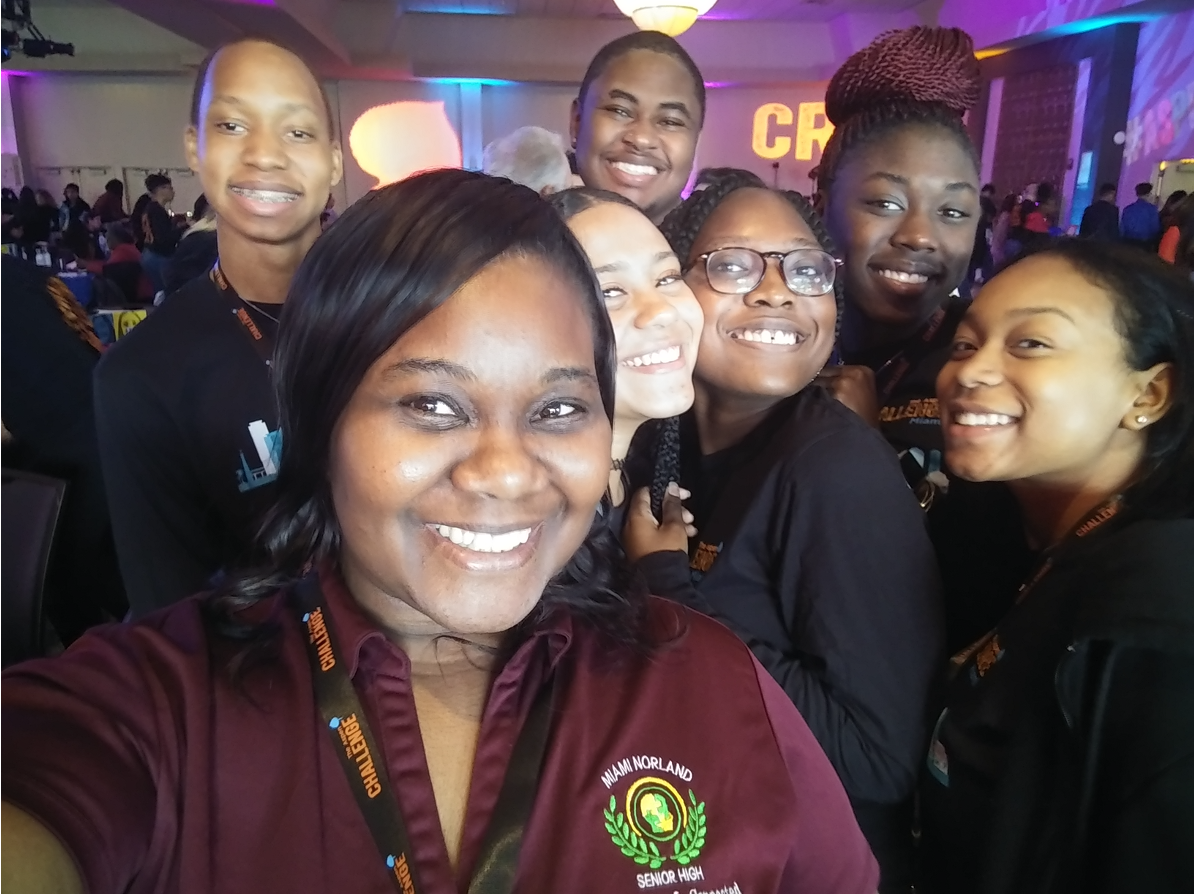 Dr. Symonette with her students