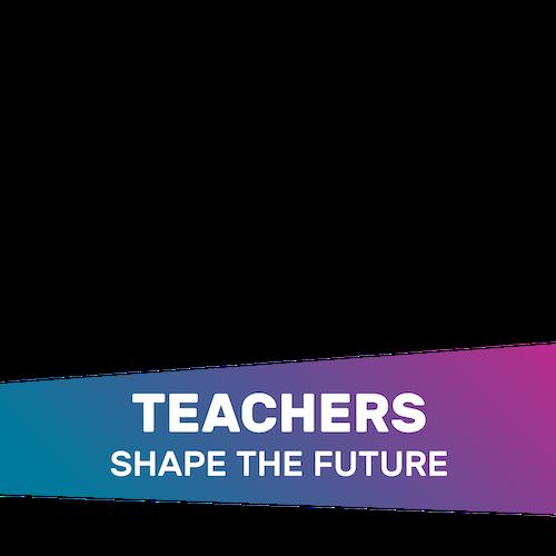 "A Facebook frame that says, ""Teachers shape the future"""